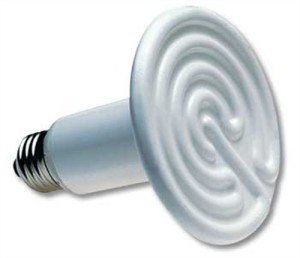 This ceramic bulb produces heat without any light.