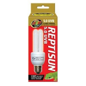 UV-B is easily provided with the ReptiSun compact florescent bulb.
